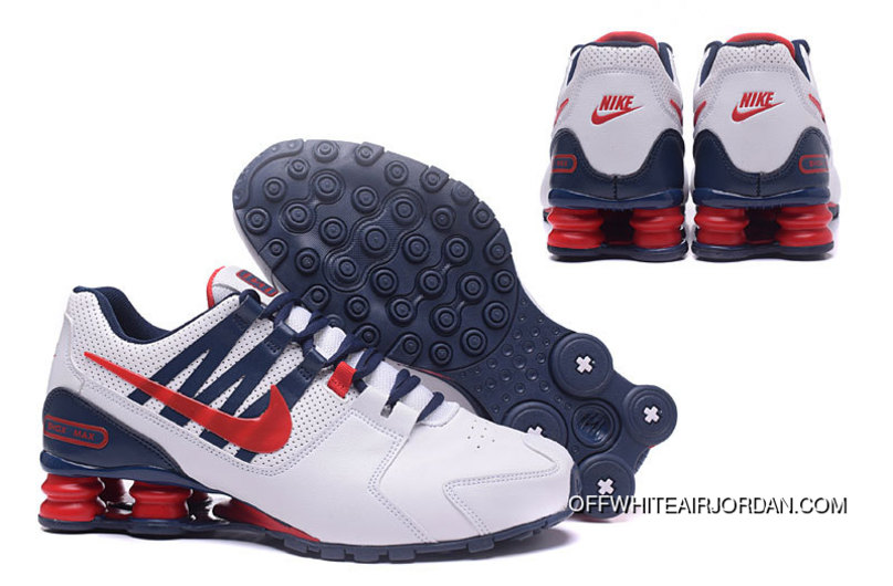 meet 29144 ed4db Nike Shox Shoes 2018 Mens White Blue Red Outlet